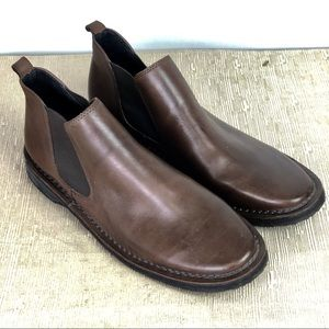 Kenneth Cole Reaction Brown Leather Boots 10M